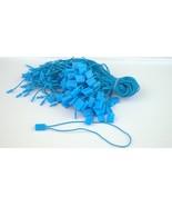 """7"""" 100 Pcs BLUE Hang Tag Nylon String FLAT HEAD Snap Lock Pin Loop Fastener - $8.14"""