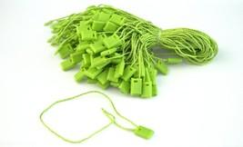 """7"""" 100 Pcs GREEN Hang Tag Nylon String FLAT HEAD Snap Lock Pin Loop Fast... - $8.14"""