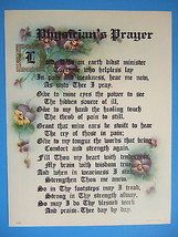 PHYSICIAN Doctor PRAYER Verse Catholic Picture - lovely vintage reproduc... - $21.49