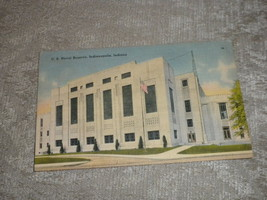 Indianapolis, Indiana U.S. Naval Reserve Headquarters 1943 posted no sta... - $1.99