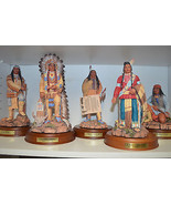 """""""The Great Chieftains"""" Danbury 10 pc Collectible Ceramic w wood bases  """"... - $470.25"""