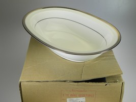 Noritake Sorrento Platinum Oval Vegetable Server NEW IN THE BOX Pattern ... - $30.81