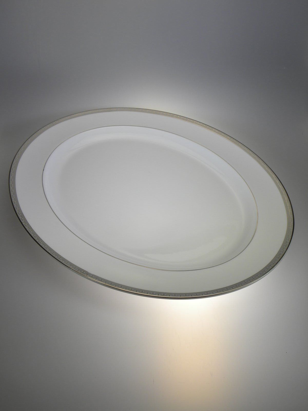 """Royal Worcester Corinth Platinum Oval Platter 16"""" NEW WITH TAGS Made in England - $33.62"""