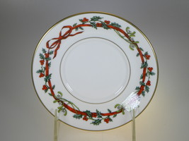 Royal Worcester Holly Ribbons Saucer Only MADE IN ENGLAND - $12.16