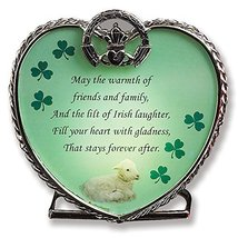 Glass Heart Candle Holder with Irish Saying - May the Warmth of Friends ... - $13.99