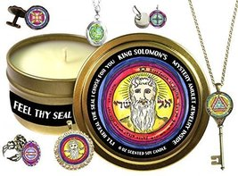 King Solomons Seal Jewelry Inside 6 ounce Scented Soy Candle (Ring, Anti... - $25.59 CAD