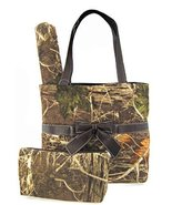 Soft Camo Diaper Bag Tote Purse 3 Piece Set Cha... - $42.56