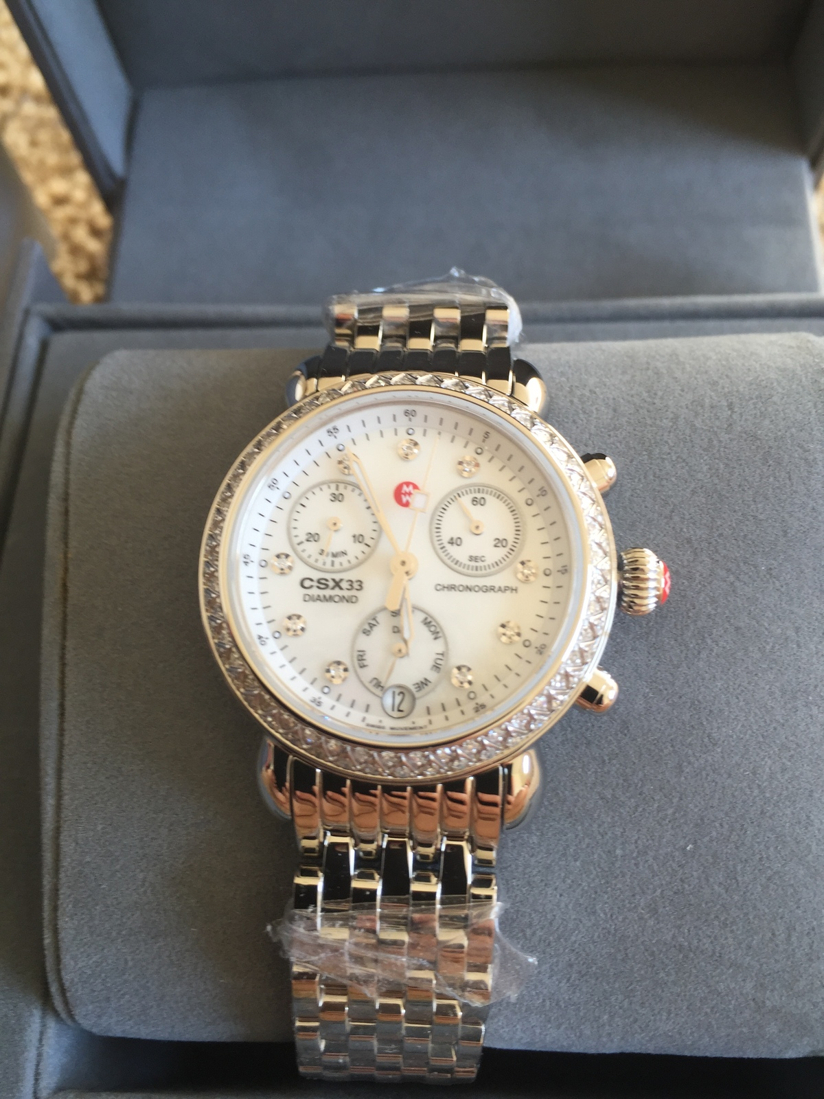 05cc5cc5e Nwt Michele Csx 33 Diamond Ladies Watch Mw03 and 50 similar items