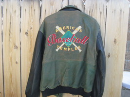 American Temples Leather Baseball Jacket REDUCED!!!! - $380.00