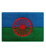 Romani People Flag Embroidered Patch European Gypsy Roma Iron-On Emblem - $3.99