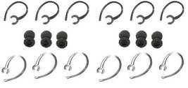 24 Pcs Ear Hook Kit Replacement for Bluetooth 6-black, 6-clear Loops (12... - $3.38