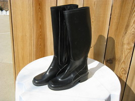 Dkny Black Rubber Boots~Kitchy~Steampunk~ - $35.00
