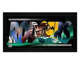 "Aaron Rodgers Green Bay Packers  - 6.75"" x 13"" Mini-Framed Photo Montage - $37.95"