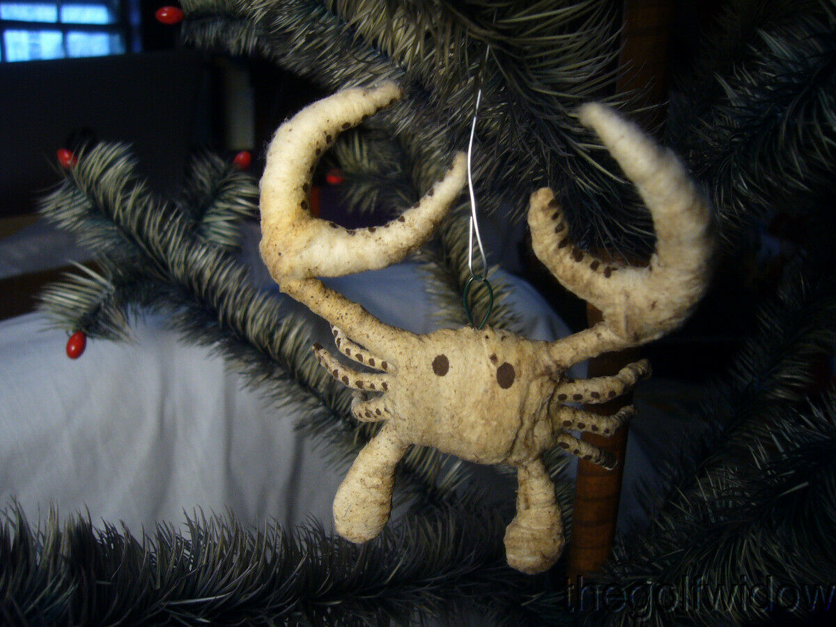 Vintage Inspired Spun Cotton Christmas Ornament Crab no. A55