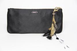 kate spade Small Evening Handbag, Black Satin Feathers & Crystals Purse ... - $193.05