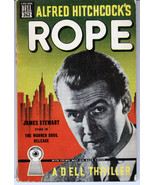 Alfred Hitchcock's ROPE (Jimmy Stewart) Dell Mapback book - $64.67
