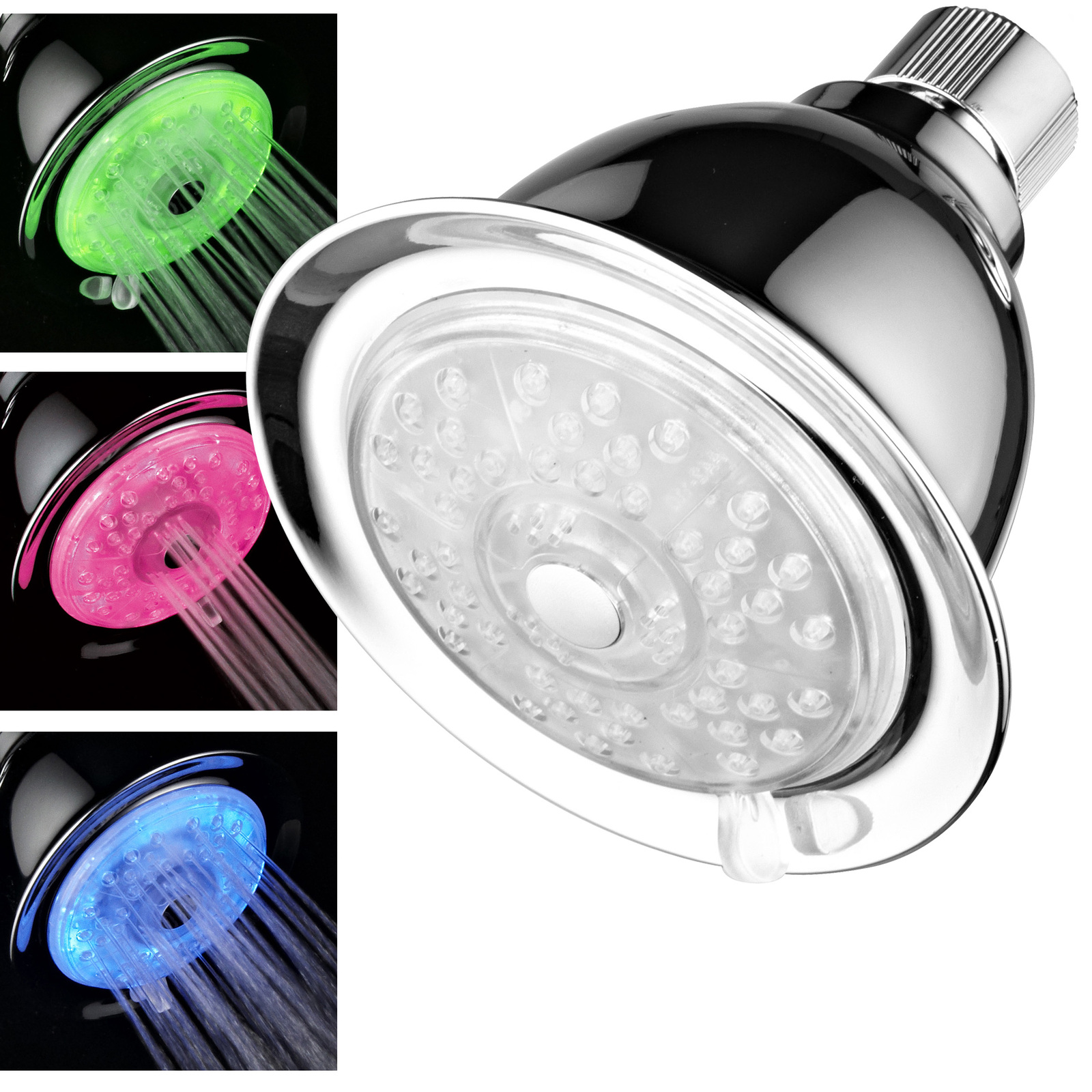 Primary image for 7-Color 4-Setting LED Shower Head With AirTurbo Pressure Boost Nozzle Technology