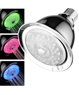 7-Color 4-Setting LED Shower Head With AirTurbo Pressure Boost Nozzle Te... - $19.99