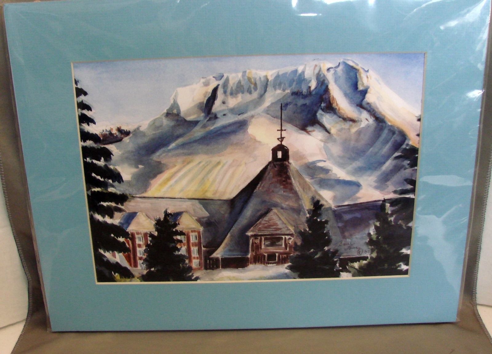 Primary image for Timberline Lodge, Mt Hood (8 x 10 print matted to 11 x 14 ) by Sarah Lowe