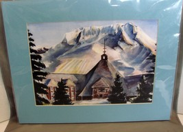 Timberline Lodge, Mt Hood (8 x 10 print matted to 11 x 14 ) by Sarah Lowe - $10.99