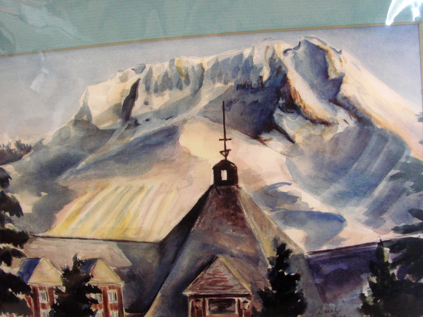 Timberline Lodge, Mt Hood (8 x 10 print matted to 11 x 14 ) by Sarah Lowe
