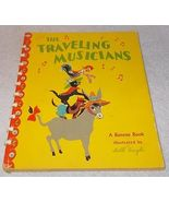 The Traveling Musicians Vintage Bonnie Book 1946 Dolli Tingle - $9.95
