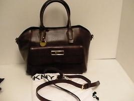 DKNY satchel handbag burgandy lizard print leather with pocket beautiful... - $188.05