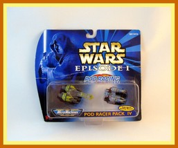 Star Wars Episode 1 ,Pod Racing Pack 4,Pod Racer,Micro Machines,Collectible, New - $28.99