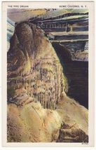 PIPE ORGAN - COBLESKILL NY HOWE CAVERNS STALAGMITE c1950s linen vintage ... - $4.55