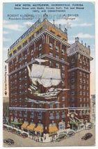 JACKSONVILLE FL~ HOTEL MAYFLOWER ~ advertising postcard c1940s ~CARS-STR... - $3.63
