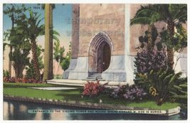 LAKE WALES FL ENTRANCE TO SINGING TOWER AND MOUND - EDWARD W BOK~c1940s ... - $4.55