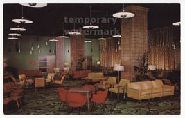 CHICAGO IL  YMCA HOTEL MAIN LOBBY ~ WABASH AVENUE ~ 1960s vintage postcard - $3.68