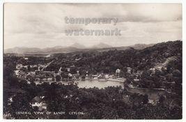 CEYLON SRI LANKA General view of KANDY & Lake c1930s photo postcard RPPC... - $6.90