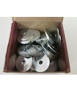 """**Box of 96** PFC 00380-2418-401 Zinc-Plated Fender Washers, 1/4"""" x 1-1/4"""" - $21.78"""