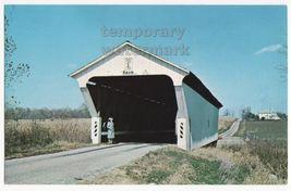 KISSING BRIDGE on PAINT ROAD, PREBLE COUNTY OH - EARLY COVERED BRIDGE c1... - $3.22