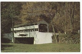 TYPICAL MIDWEST COVERED BRIDGE OF THE 1800s ~ KISSING BRIDGE ~ c1960s po... - $3.22