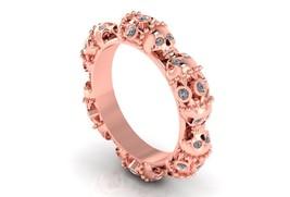 Skull Stacker Wedding Ring Set 10k with Genuine... - $1,495.00
