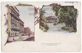 CHICAGO IL~ANTIQUE 1897 AMERICAN SOUVENIR CARD CO~MICHIGAN AVENUE-LINCOL... - $20.24