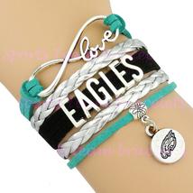 EAGLES Handmade Infinity Love Football Sports Team  Bracelet - Midnight ... - $5.00