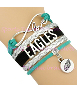 EAGLES Handmade Infinity Love Football Sports Team  Bracelet - Midnight ... - £2.13 GBP