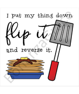 """Flip It"" Lyrics Pancake Art Print - $35.00"