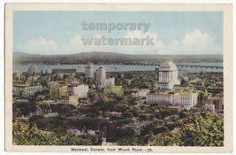 MONTREAL Quebec Canada  General City View fm Mount Royal c1930s vintage ... - $5.06