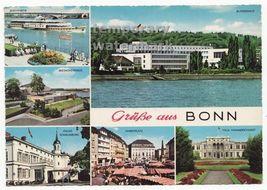 Germany Bonn Greetings Postcard Multiview 1960s Kruger~Beethovenhalle~Bundeshaus - $2.76