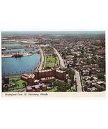 ST PETERSBURG FL  WATERFRONT PARK AERIAL VIEW 1960s postcard~BAYFRONT CE... - $3.40