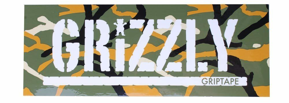 "Grizzly Griptape Olive Green Orange Branch Camo 8"" Sticker Skateboard Decal NEW"
