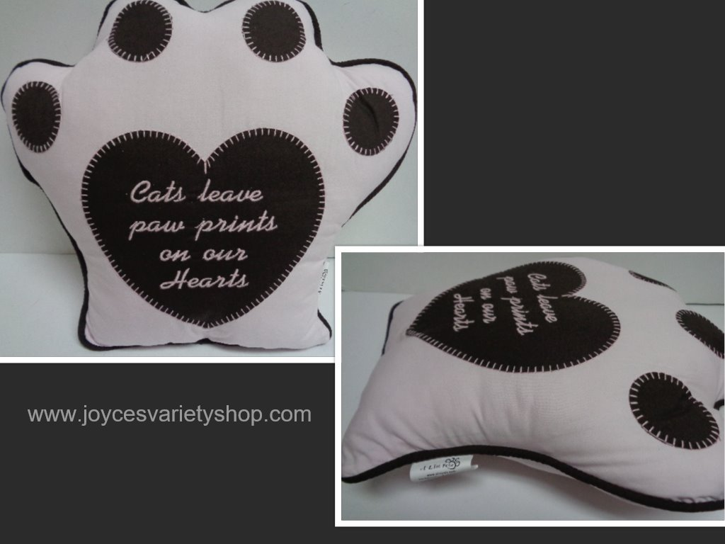 Cat paw pillow collage