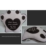 """Cat PAW Pillow NWT CATS LEAVE PAW PRINTS ON OUR HEARTS Pink 16"""" x 15"""" - $10.99"""