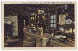 BERRY-LINCOLN STORE INTERIOR - NEW SALEM STATE PARK ILLINOIS postcard ~H... - $2.71