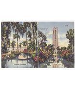 FLORIDA BEAUTY SPOTS- CYPRESS GARDENS - BOK SINGING TOWER 1950s vintage ... - $2.71