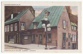 Quebec City QC PQ Canada- MAISON MONTCALM historic house c1954 vintage p... - $2.71